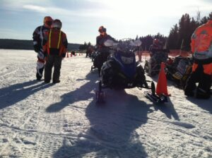 In spite of the brutal wind chill and snow dust adding to the challenge at the Lake Parlin 100, Erik Frigon set the third fastest Pro Open time to podium in the top race of the day.