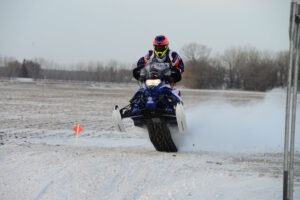 After drawing last of 16 for the starting lineup, Semi Pro racer Ben Lindbom passed every other sled in his class after two laps, ultimately winning by an amazing 2 minutes and 30 seconds.