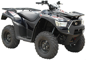 KYMCO MXU 700 model years 2013 through 2015 came in black, green and red